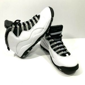 Air Jordan 10 Steel Size 9.5 310805 103 #3666 E